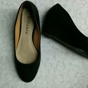 🔥💲Black heeled ballerinas 36